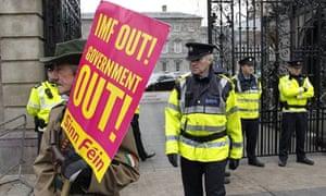 Dail EU/IMF bailout protest