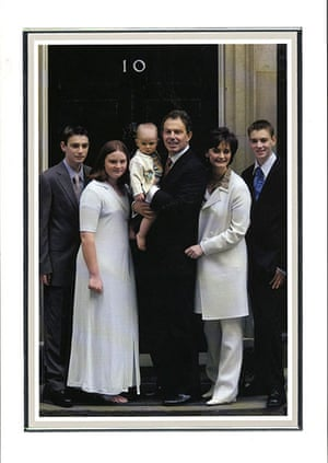 Leader Christmas Cards: No.10 Downing Street Christmas card 2001 featuring Tony Blair and family