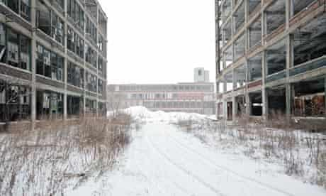 A closed car plant in Detroit