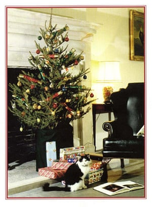 Leader Christmas Cards: Humphrey the cat in Cabinet Office's 1997 Christmas card