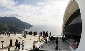 A view of Oscar Niemeyer's auditorium at Ravello on the day of its official inauguration