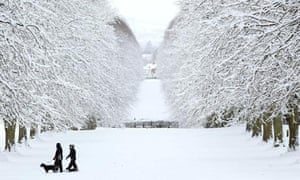 A snow covered Stormont estate is pictur