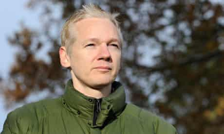 Julian Assange at Ellingham Hall where he is staying