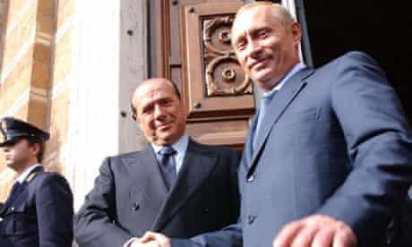 Vladimir Putin and Silvio Berlusconi