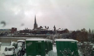 Chesterfield in the snow.