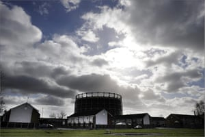 Year in Business: Housing next to a gasometer in Beswick, east Manchester