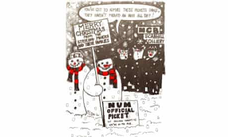 political leftwing christmas cards john harris