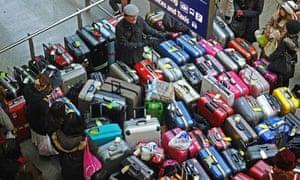 Luggage at St Pancras