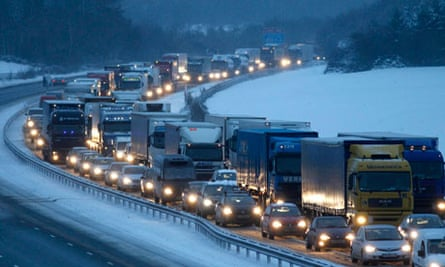 Traffic on the M25 in Kent 1/12/10