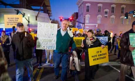 South Carolina secession ball protest