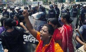 A female activist (C) of a Bangladesh 14