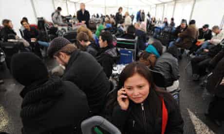 Stranded air passengers at Heathrow