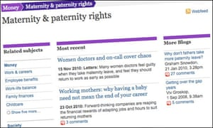 The Guardian's maternity and paternity rights tag page