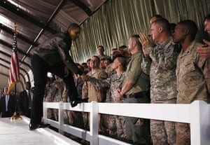 obama 2010: U.S. President Obama meets with troops at Bagram Air Force Base in Kabul