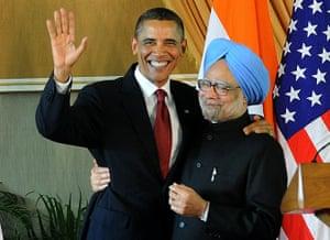 obama 2010: Barack Obama and Manmohan Singh