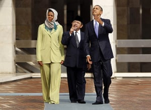 obama 2010:  Obama andMichelle Obama tour the Istiqlal Mosque in Jakarta