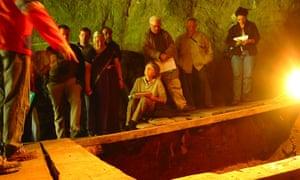 Denisova Cave in Siberia where 'Denisovan' human relatives were found