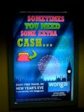 Wonga Underground ad