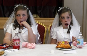 2010: year in pictures: Twins Aine and Emer Quinn after their first communion in Cushendall