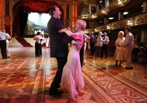 2010: year in pictures: Peter Mandelson takes to the floor of the Tower ballroom, Blackpool