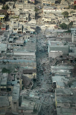 2010: year in pictures: A devastated Port-au-Prince after the Haitian earthquake