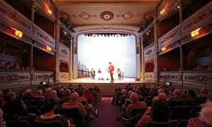 Gilded glory ... Tom Morris speaks at the Bristol Old Vic