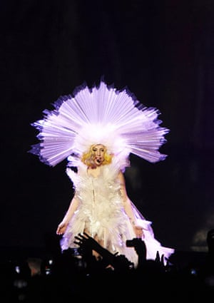 2010: year in pictures: Lady Gaga live in concert at the Palais Omnisport de Bercy in Paris