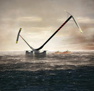 2010 green technologies: The revolutionary 10MW Aerogenerator X, an offshore wind turbine