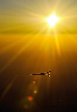 2010 green technologies: the solar-powered HB-SIA prototype airplane