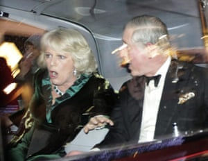 2010: year in pictures: Prince Charles and the Duchess of Cornwall car is attacked during protests