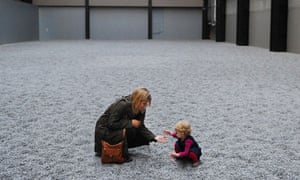 Sunflower seeds at the Tate Modern