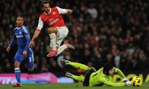 Walcott and Ashley Cole Arsenal Chelsea
