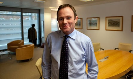 Nick Herbert, the policing minister, in his office. Photograph: Graham Turner.