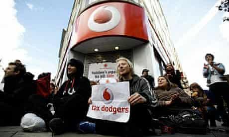 UK Uncut protest against Vodafone