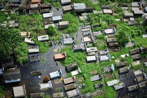 24 hours in pictures: Aerial view of a flooded cemetery in Barlovento, Venezuela