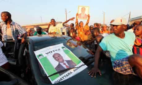 Supporters of Alassane Ouattara