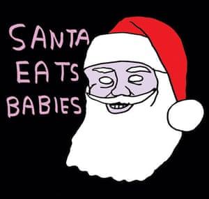 Christmas card designed by David Shrigley
