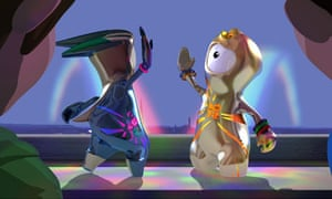 Wenlock and Mandeville, 2012 Olympic mascots.