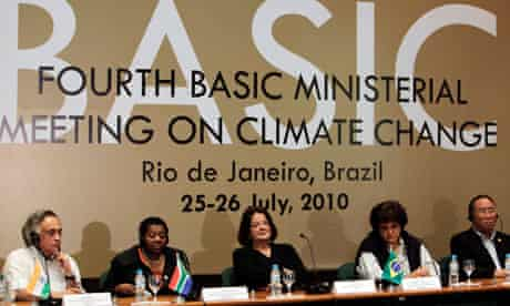 Environment ministers at a Basic climate change meeting