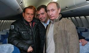 Berlusconi, Medvedev and Putin