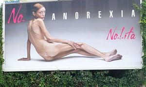 Isabelle Caro billboard