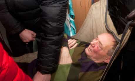 Injured Belarusian presidential candidate Vladimir Neklyayev
