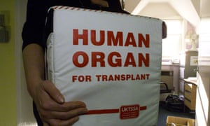A special box for tranporting human organs