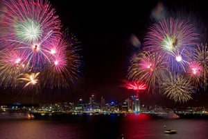 New Year Celebrations: Auckland, New Zealand: Fireworks over Auckland celebrate the start of 2011
