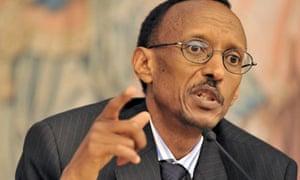 President of Rwanda Paul Kagame