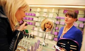 Cosmetics counter