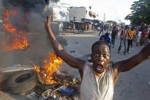 24 Hours: Alassane Ouattara's supporters react as the news spreads that Laurent Gbagbo won