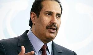Qatari prime minister Sheikh Hamad bin Jassim Al Thani