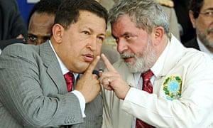 Hugo Chavez with Lula
