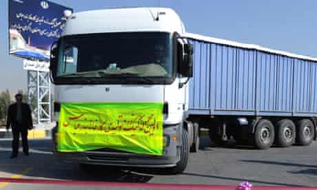 Iran nuclear truck